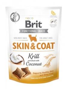 BRIT PRZYS PIES FUNCT SNACK SKIN&COAT KRILL 150G