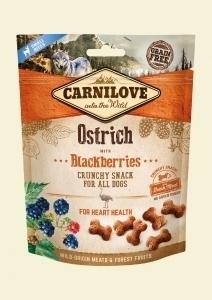 CARNILOVE PIES SNACK FRESH CRUNCHY OSTRICH+BLACKBERRIES 200G