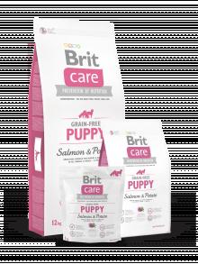 BRIT CARE GRAIN FREE PUPPY SALMON POTATO 3KG
