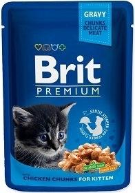 BRIT CAT POUCHES 100G KITTEN CHICKEN CHUNKS