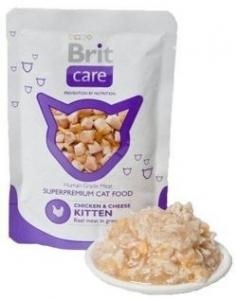 BRIT CARE CAT POUCH 80G KITTEN CHICKEN/CHEESE