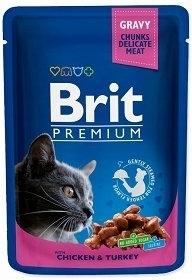 BRIT CAT POUCHES 100G CHICKEN/TURKEY