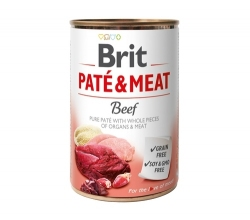 BRIT PUSZKA PIES PATE & MEAT BEEF 400G