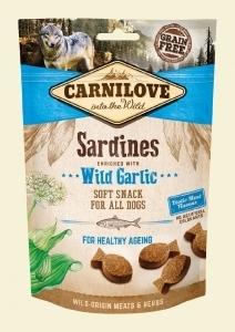 CARNILOVE PIES SNACK SOFT M.SARDINES+WIL.GARL 200G