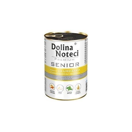 DOLINA NOTECI PUSZKA 400G SENIOR KURCZAK/MARCHEW/BAZYLIA