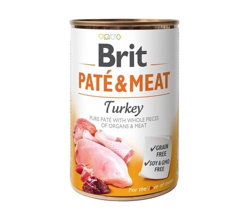 BRIT PUSZKA PIES PATE&MEAT TURKEY 400G