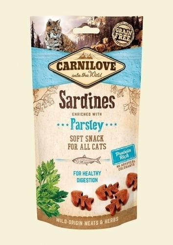 CARNILOVE KOT SNACK SOFT SARDINE+PARSLEY 50G