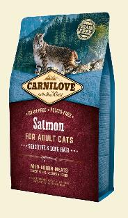 CARNILOVE KOT SALMON SENSITIVE / LONG HAIR 2KG
